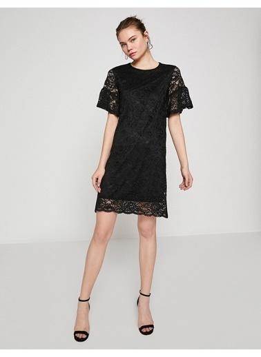 Koton Volanlı Mini Elbise Siyah